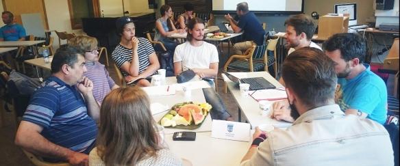 Gruppearbeid, oppgaveseminar hos Institutt for musikk. Foto: Sigri Aas, Studentassistent NTNU Bridge