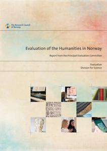 Forside fra evalueringsrapport om humaniora i Norge